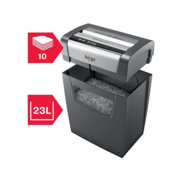 artykuły biurowe 4 alibiuro.pl Niszczarka Rexel Momentum X410 konfetti P 4 10 kart. 23l czarna 12