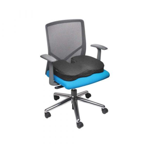 artykuły biurowe 4 alibiuro.pl Poduszka na krzesło KENSINGTON Premium żelowa chłodząca czarna 37