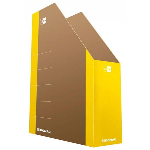 artykuły biurowe 4 alibiuro.pl Pojemnik na dokumenty DONAU Life karton A4 żółty 36