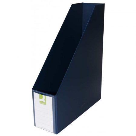 artykuły biurowe 4 alibiuro.pl Pojemnik na dokumenty Q CONNECT PVC A4 76 ciemnoniebieski 85
