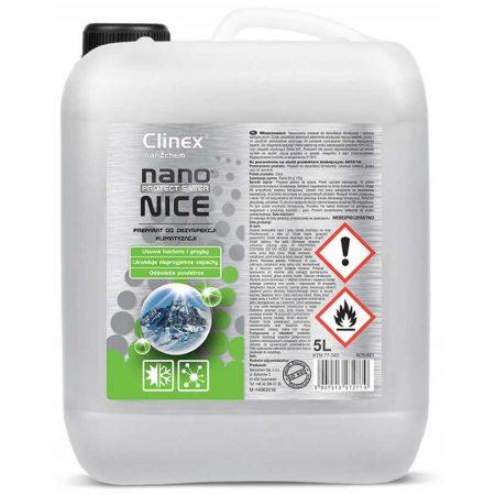 artykuły biurowe 4 alibiuro.pl Preparat do dezynfekcji układów klimatyzacji i wentylacji CLINEX Nano Protect Silver Nice 5L 90