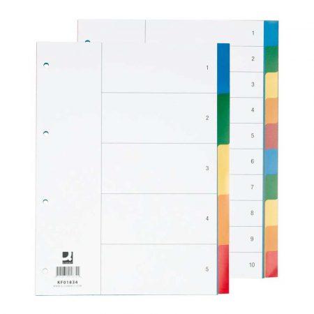 artykuły biurowe 4 alibiuro.pl Przekładki Q CONNECT PP A4 230x297mm 10 1 kart mix kolorów 17