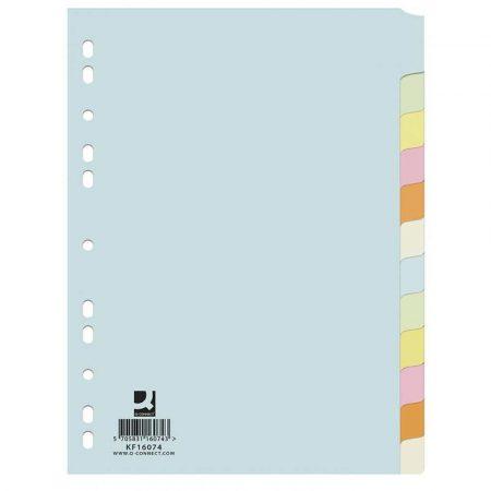 artykuły biurowe 4 alibiuro.pl Przekładki Q CONNECT karton A4 223x297mm 12 kart mix kolorów 45