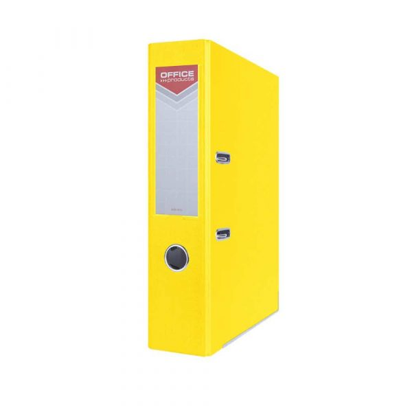 artykuły biurowe 4 alibiuro.pl Segregator OFFICE PRODUCTS Officer z szyną PP A4 75mm żółty 33