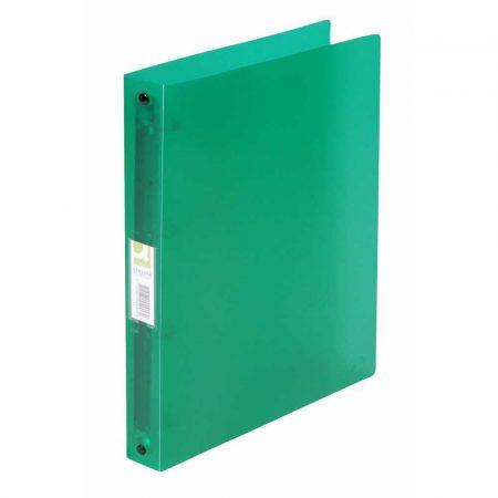 artykuły biurowe 4 alibiuro.pl Segregator ringowy Q CONNECT PP A4 4R 25mm transparentny zielony 3