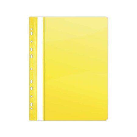 artykuły biurowe 4 alibiuro.pl Skoroszyt DONAU PVC A4 twardy 150 160mikr. wpinany żółty 82