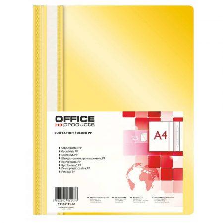 artykuły biurowe 4 alibiuro.pl Skoroszyt OFFICE PRODUCTS PP A4 miękki 100 170mikr. żółty 6