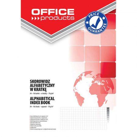 artykuły biurowe 4 alibiuro.pl Skorowidz OFFICE PRODUCTS A4 w kratkę alfabetyczny twarda okładka 96 kart. 70gsm 74