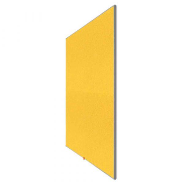 artykuły biurowe 4 alibiuro.pl Tablica filcowa NOBO 72x41cm panoramiczna 32 Inch żółta 4