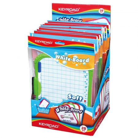 artykuły biurowe 4 alibiuro.pl Tablica suchościerlana KEYROAD Mini dla dzieci z markerem A4 mix kolorów 47