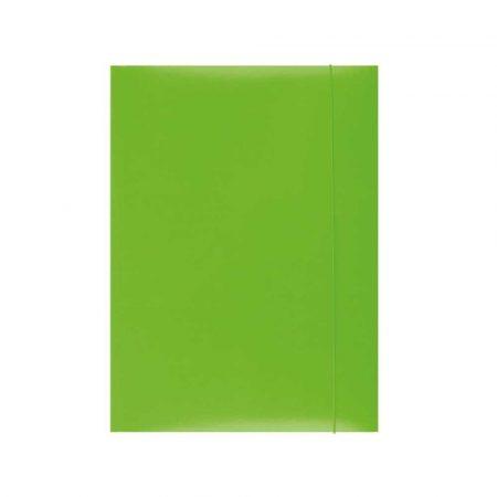 artykuły biurowe 4 alibiuro.pl Teczka z gumką OFFICE PRODUCTS karton A4 300gsm 3 skrz. zielona 71