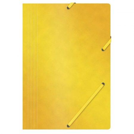 artykuły biurowe 4 alibiuro.pl Teczka z gumką OFFICE PRODUCTS preszpan A4 390gsm 3 skrz. żółta 89