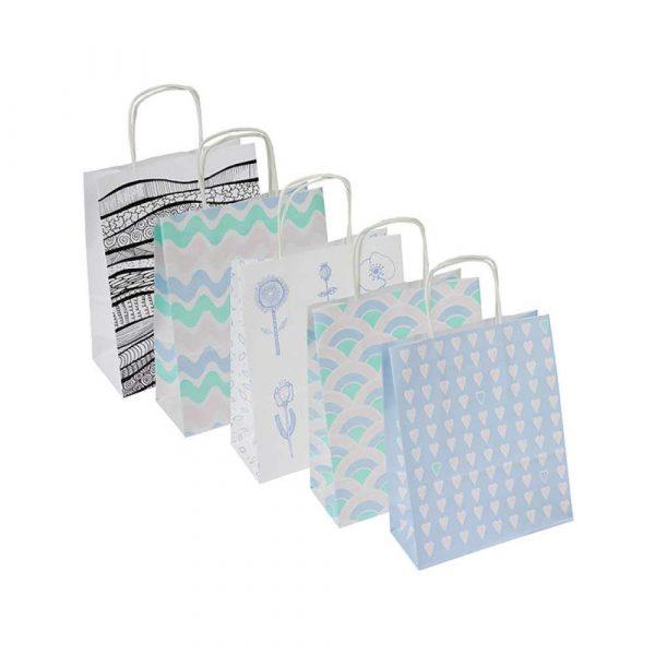 artykuły biurowe 4 alibiuro.pl Torebka na prezenty OFFICE PRODUCTS papierowa 18x8x22 5cm jednolita pastelowa mix wzorów 10