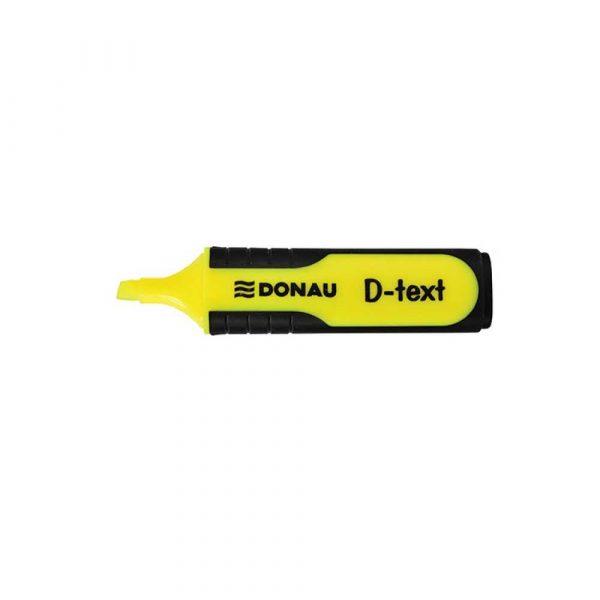 artykuły biurowe 4 alibiuro.pl Zakreślacz fluorescencyjny DONAU D Text 1 5mm linia żółty 13