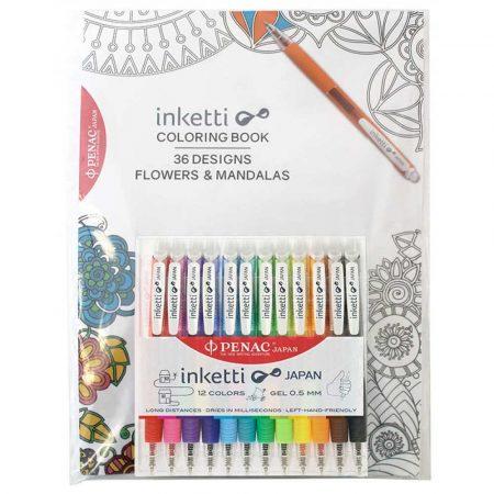 artykuły biurowe 4 alibiuro.pl Zestaw długopisów automatycznych w etui PENAC Inketti 0 5mm 12szt. książka mix kolorów 70