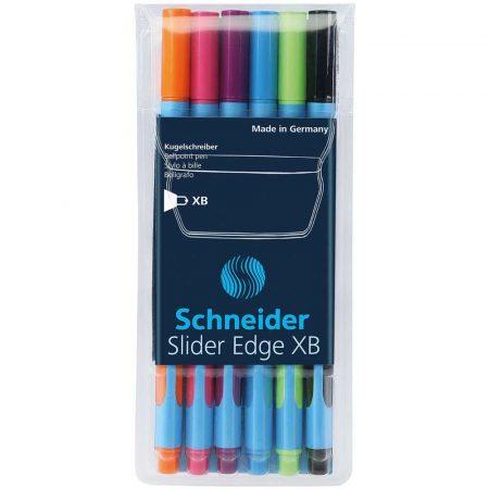 artykuły biurowe 4 alibiuro.pl Zestaw długopisów w etui SCHNEIDER Slider Edge XB 6 szt. miks kolorów 48