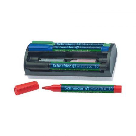 artykuły biurowe 4 alibiuro.pl Zestaw markerów do tablic SCHNEIDER Maxx Eco 110 okrągły 1 3mm 4 szt. miks kolorów 94