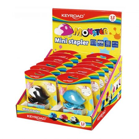 artykuły biurowe 4 alibiuro.pl Zszywacz KEYROAD Mini zszywki zszywa do 20 kartek pakowane na displayu mix kolorów 42