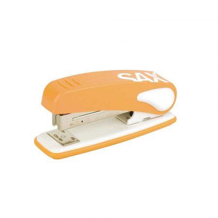 artykuły biurowe 4 alibiuro.pl Zszywacz SAX239 Design zszywa do 25 kartek display pomarańczowy 55