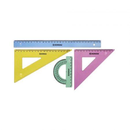 artykuły kreślarskie 4 alibiuro.pl Zestaw geometryczny DONAU duży zawieszka mix kolorów 63