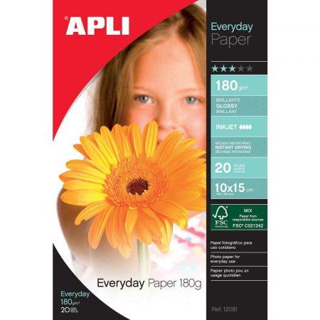 artykuły papiernicze 4 alibiuro.pl Papier fotograficzny APLI Everyday Photo Paper 10x15cm 180gsm błyszczący 20ark. 89