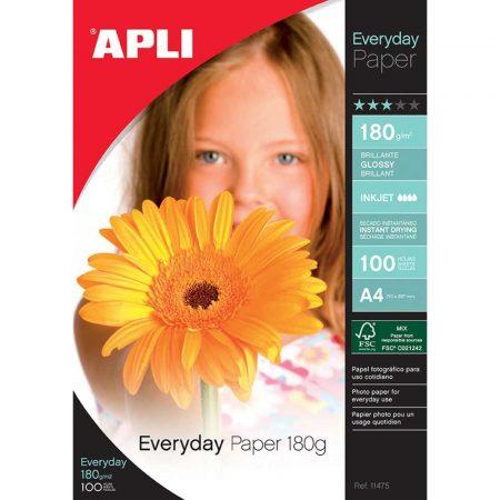 artykuły papiernicze 4 alibiuro.pl Papier fotograficzny APLI Everyday Photo Paper A4 180gsm błyszczący 100ark. 0