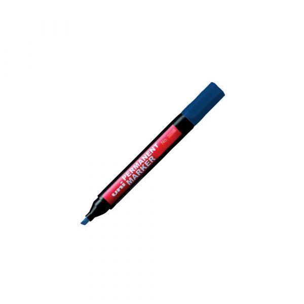 artykuły piśmiennicze 1 alibiuro.pl Marker permanentny ścięta końcówka NO 380B UNI niebieski 85