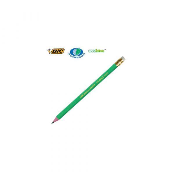 artykuły piśmiennicze 1 alibiuro.pl Ołówek HB z gumką ECOlutions Evolution 655 BIC 46