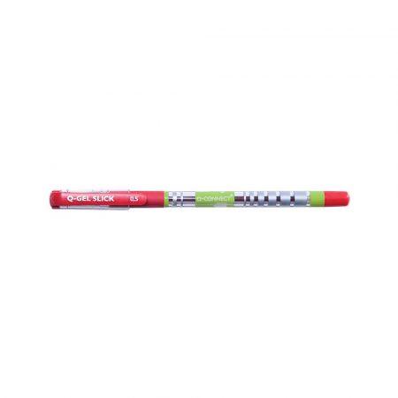 artykuły piśmiennicze 4 alibiuro.pl Długopis żelowo fluidowy Q CONNECT 0 5mm czerwony 0