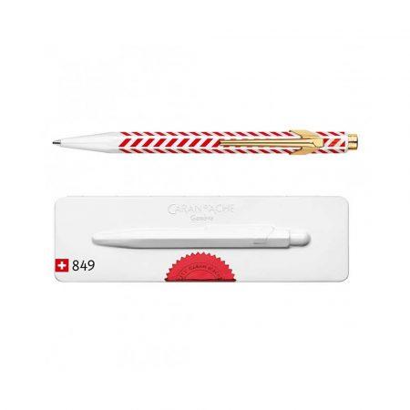 artykuły piśmiennicze 4 alibiuro.pl Długopis CARAN D Inch ACHE 849 Chevron M w pudełku czerwony 32