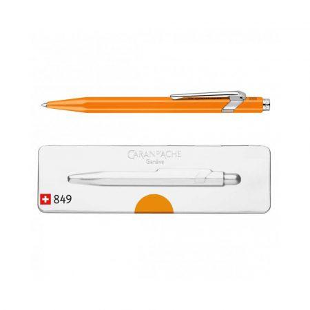 artykuły piśmiennicze 4 alibiuro.pl Długopis CARAN D Inch ACHE 849 Pop Line Fluo M w pudełku pomarańczowy 5