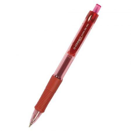artykuły piśmiennicze 4 alibiuro.pl Długopis automatyczny żelowy Q CONNECT 0 5mm linia czerwony 37
