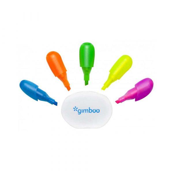 artykuły piśmiennicze 4 alibiuro.pl Zakreślacz GIMBOO w kształcie rączki blister mix kolorów 6