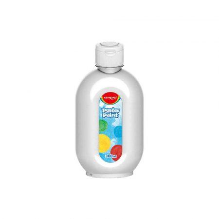 artykuły plastyczne 4 alibiuro.pl Farba plakatowa KEYROAD 300ml butelka biała 0