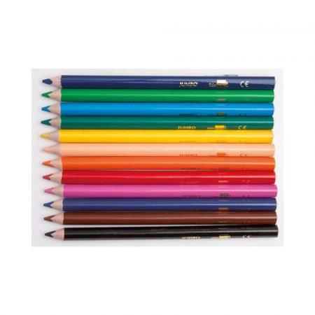artykuły plastyczne 4 alibiuro.pl Kredki ołówkowe LIDERPAPEL Jumbo 12szt. mix kolorów 50