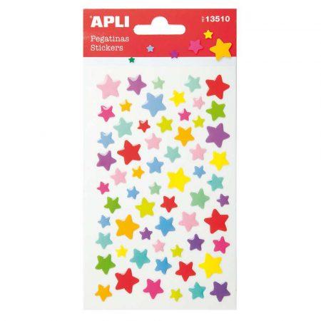 artykuły plastyczne 4 alibiuro.pl Naklejki APLI Stars wypukłe mix kolorów 6