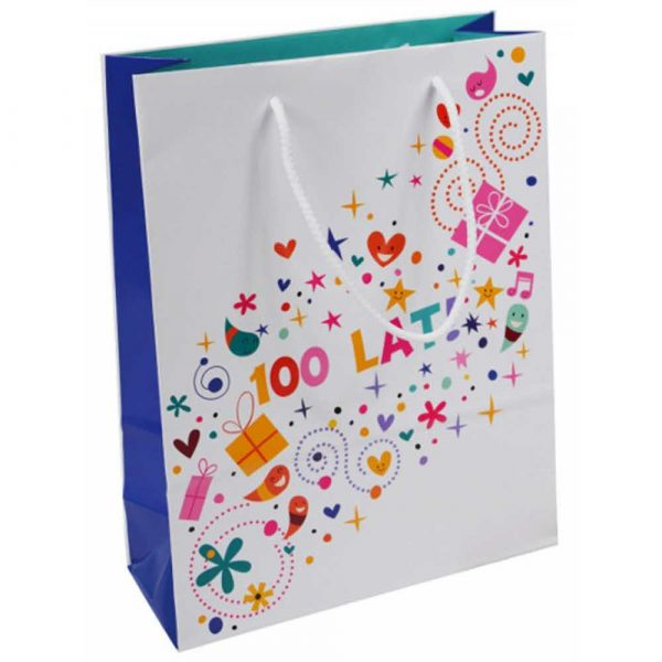 artykuły plastyczne 4 alibiuro.pl Torebka na prezenty OFFICE PRODUCTS laminowana 24x10x32cm dziecięca mix wzorów 34