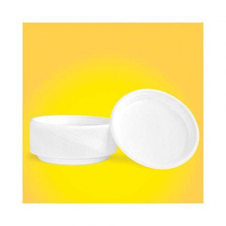 artykuły spożywcze 4 alibiuro.pl Talerz plastikowy OFFICE PRODUCTS śr. 22cm 100 szt. biały 37