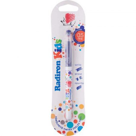artykuły szkolne 4 alibiuro.pl Długopis żelowy ICO Student Radiron Kids wymazywalny blister niebieski 38