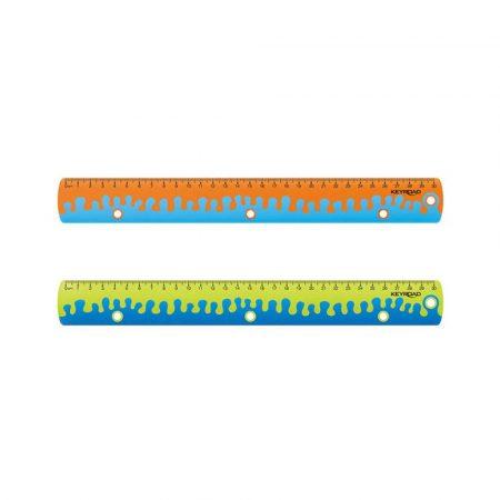 artykuły szkolne 4 alibiuro.pl Linijka z uchwytem KEYROAD Coral 30 cm pakowane w display mix kolorów 4