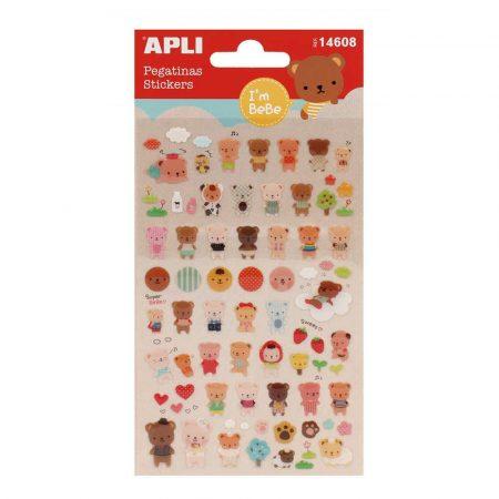 artykuły szkolne 4 alibiuro.pl Naklejki APLI Bears wypukłe mix kolorów 39