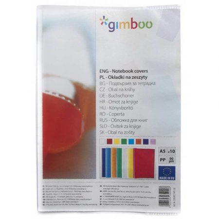 artykuły szkolne 4 alibiuro.pl Okładka na zeszyt GIMBOO groszkowa A5 90mikr. transparentna 28