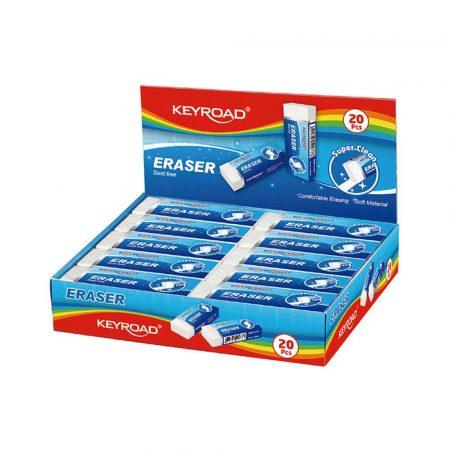 artykuły techniczne 4 alibiuro.pl Gumka uniwersalna KEYROAD Maxi pakowane na displayu biała 72