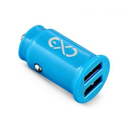 baterie 4 alibiuro.pl Uniwersalna ładowarka samochodowa EXC Cute 2xUSB 2 4A niebieska 67
