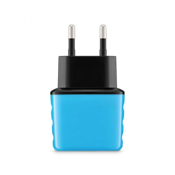 baterie 4 alibiuro.pl Uniwersalna ładowarka sieciowa EXC Cute 2xUSB 2 4A niebieska 8