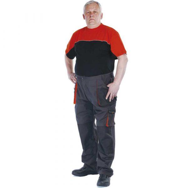 bluzy 4 alibiuro.pl Spodnie Emerton bawełna poliester rozm. 60 antracytowo pomarańczowe 68
