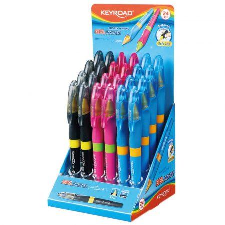 długopis żelowy 4 alibiuro.pl Długopis żelowy KEYROAD 0 7mm mix kolorów 29