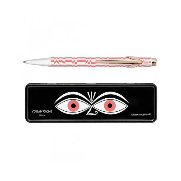 długopis żelowy 4 alibiuro.pl Długopis CARAN D Inch ACHE 849 Alexander Girard Pink M w pudełku różowy 60