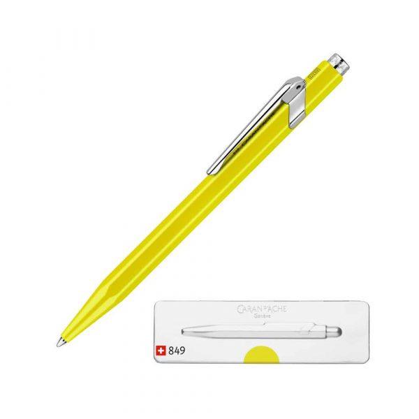 długopis żelowy 4 alibiuro.pl Długopis CARAN D Inch ACHE 849 Pop Line Fluo M w pudełku żółty 82
