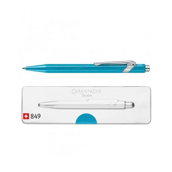 długopis żelowy 4 alibiuro.pl Długopis CARAN D Inch ACHE 849 Pop Line Metal X M w pudełku turkusowy 99